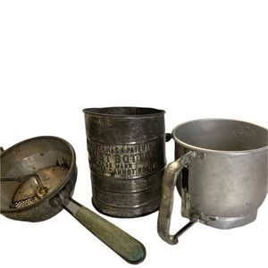 Vintage Lot Farmhouse Rustic Kitchen Sifters Foley